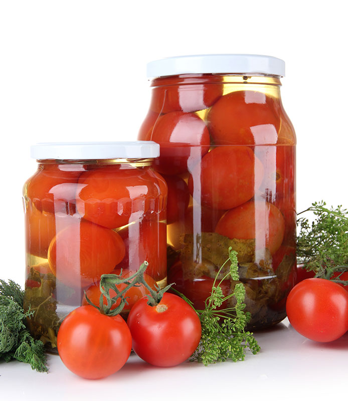 Tomates frescos y en conserva