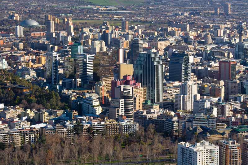 Panoramica de la ciudad de Santiago