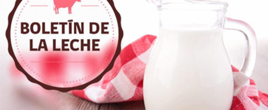 Boletín de la leche: avance de recepción y producción de la industria láctea. Marzo de 2018