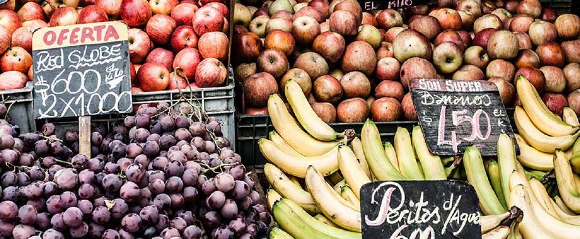 Precios al consumidor de alimentos en línea registrados por Odepa