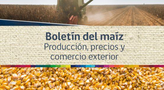 Boletín del maíz: producción, precios y comercio exterior. Enero de 2015