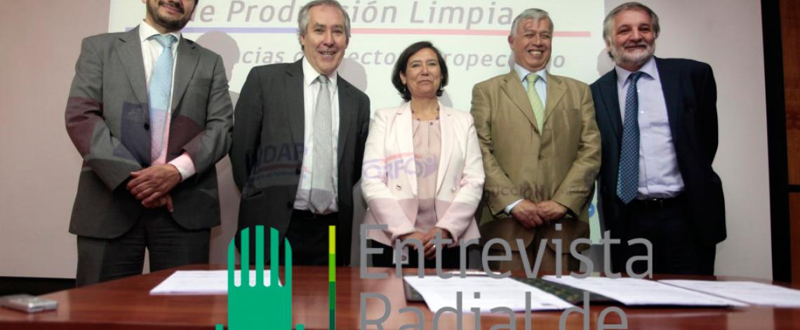 Entrevista radial de Odepa reporteó la firma de un acuerdo de colaboración para la ejecución de un plan de trabajo para promover la incorporación de prácticas sustentables y de producción limpia en el sector agrícola.