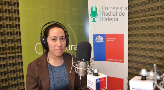 En la entrevista radial de Odepa, Paula Valdés habla sobre la equidad de género y el empoderamiento de la mujer en el contexto del cambio climático