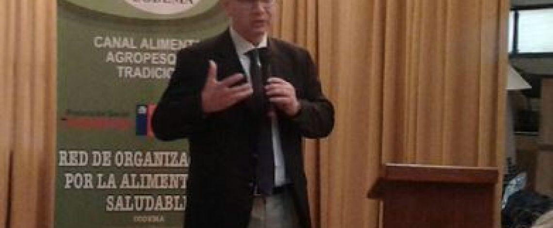 """Codema realizó un seminario sobre """"Red de organizaciones para la alimentación saludable"""". En esta instancia participó el director (s) de Odepa, Teodoro Rivas."""