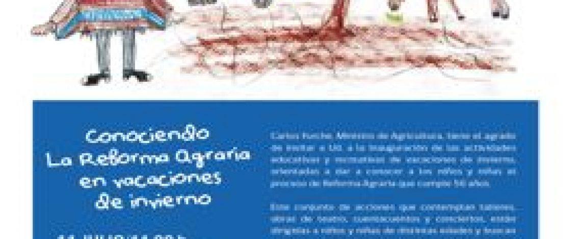 Minagri celebrará la Semana de la Reforma Agraria en la Biblioteca de Santiago