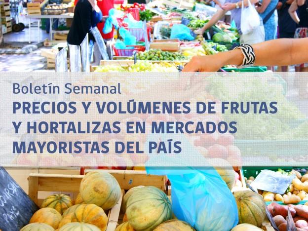 9fa988cfa Boletín semanal de precios y volúmenes de frutas y hortalizas en mercados  mayoristas del país - ODEPA
