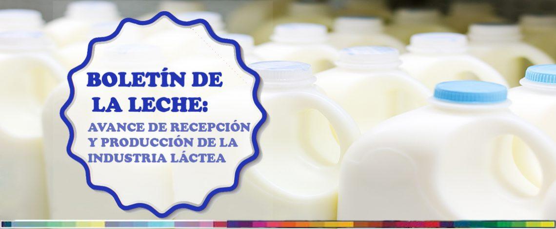 Boletín de la leche: avance de recepción y producción de la industria láctea. Enero de 2018 (con información a diciembre de 2017)