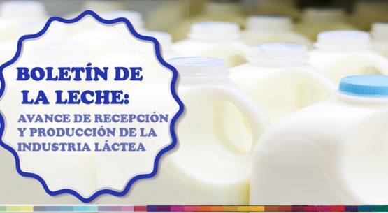 Boletín de la leche: avance de recepción y producción de la industria láctea. Abril de 2018