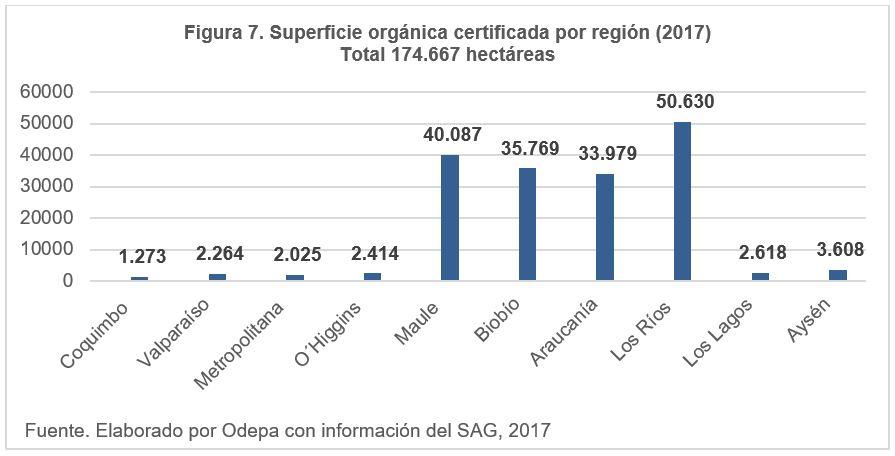 Superficie orgánica certificada sin recolecciáon silvestre
