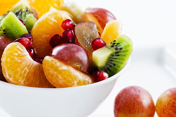 Trozos fruta fresca