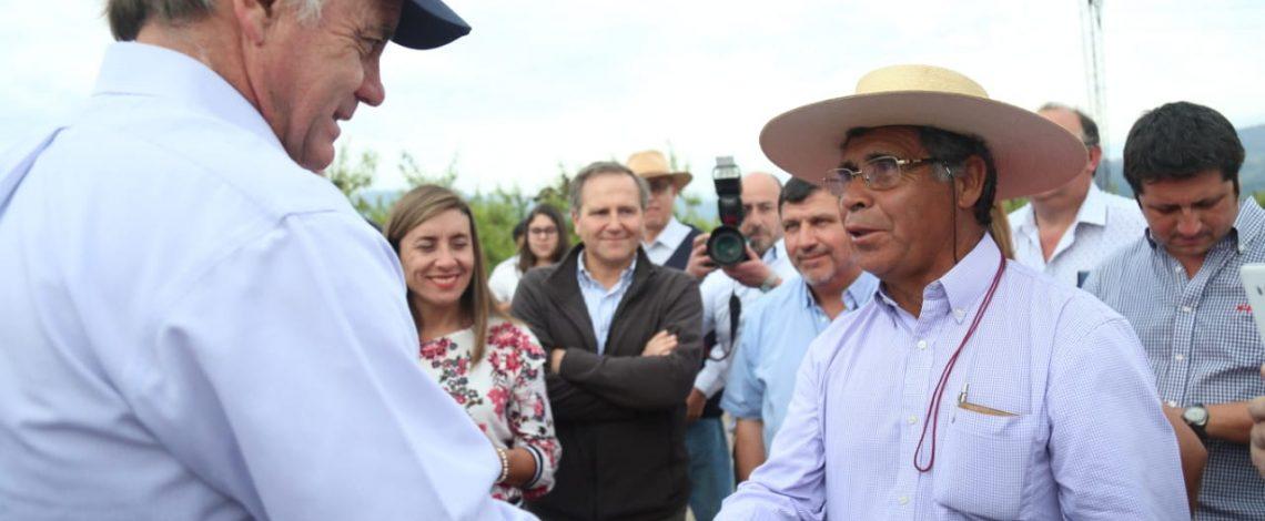 """Ministro Walker visitó sectores afectados por granizos: """"Llamamos a la banca a apoyar a nuestros agricultores"""""""