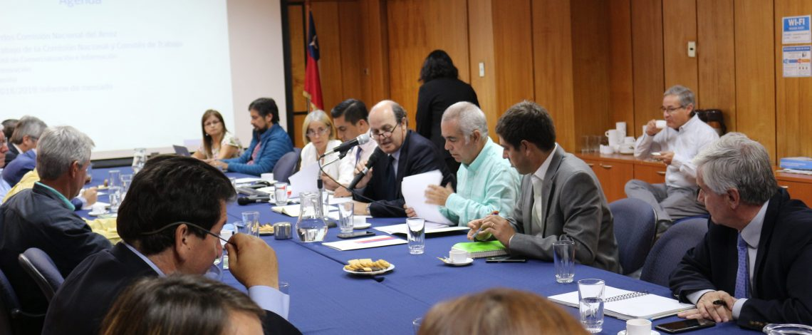 Se realizó una reunión de la Comisión Nacional del Arroz