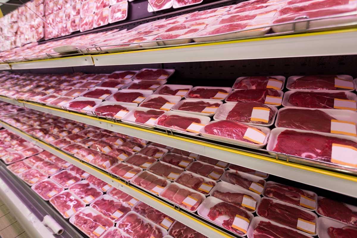 Carne bovina en supermercado