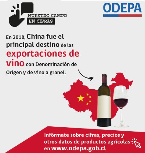 Infografía de exportaciones de vino a China - marzo 2019