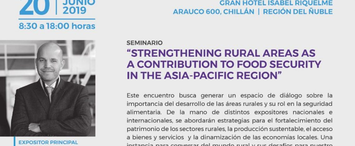 """Seminario """"Strengthening Rural Areas as a contribution to Food Security in the Asia-Pacific region"""""""