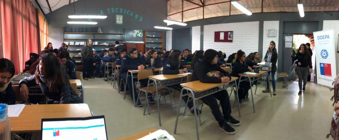 Odepa visita permanentemente escuelas rurales