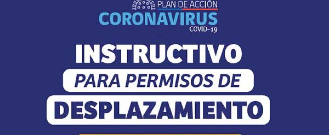 Instructivo para permisos de desplazamiento. Actualizado al 19 de junio de 2020