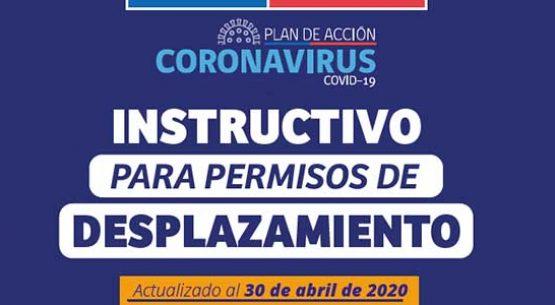 Instructivo para permisos de desplazamiento. Actualizado al 15 de mayo de 2020