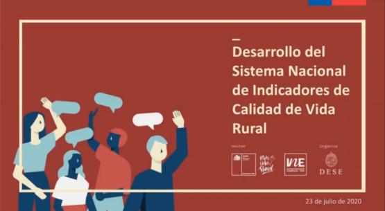 Revive el webinar participativo del Sistema de Indicadores de Calidad de Vida Rural